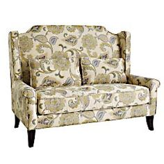 Pier 1's Headington Loveseat - A good idea for a queen/full headboard. I did think about making the one I have now into a bench, but not about upholstering it. I am probably going to use the one I have as an actual headboard for our guest room & save this idea for a future find.