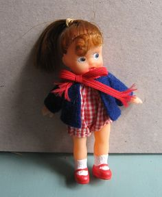 Redressed generic dimestore doll from 1958. Tiny Seamster