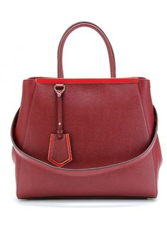Fendi 2Jours Textured Leather Tote