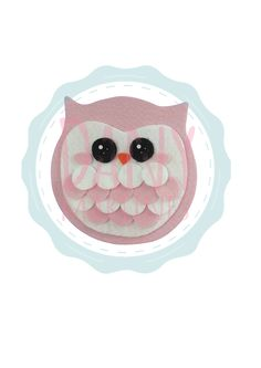 Molde coruja, feltro - Assista o tutorial: https://www.youtube.com/watch?v=wvoWJMdE7G8