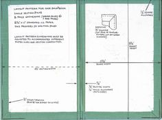 simple folio book tutorial, plus definitions and suppliers