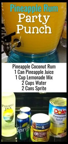 Easy Punch Recipes For a Crowd - Simple Party Drinks Ideas (both NonAlcoholic . 7 Easy Punch Recipes For a Crowd - Simple Party Drinks Ideas (both NonAlcoholic ., 7 Easy Punch Recipes For a Crowd - Simple Party Drinks Ideas (both NonAlcoholic . Alcoholic Punch Recipes, Easy Punch Recipes, Alcohol Drink Recipes, Party Drinks Alcohol, Fun Drinks, Pineapple Alcohol Drinks, Fireball Recipes, Easy Alcoholic Drinks, Juice Recipes