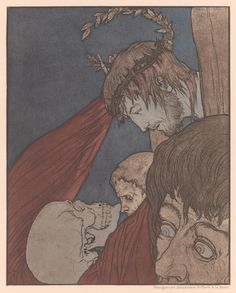 A Modern Dance of Death:  prints by German artist Joseph Sattler (1867–1931), c. 1894,  from the 1912 edition.
