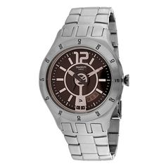 Swatch Men's Classic Quartz Silver Band Brown Dial