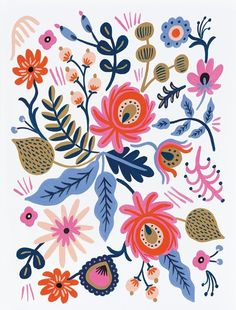 Crushing on this sophisticated yet vintage floral print by Rifle Paper Co. that…