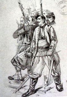 Officier de Zouaves, par Yvon.