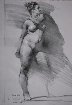 Figure and Head studies in charcoal, graphite, pen and paint.. - Page 5