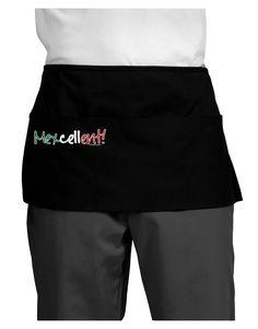 TooLoud Mexcellent Flag Color - Cinco De Mayo Dark Adult Mini Waist Apron