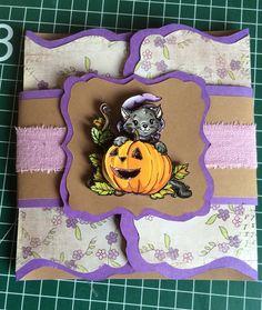 Halloweenkaart, buitenkant @HannieBlokzijl (Kijk op mijn bord Zelfgemaakte dingen voor de binnenkant.)