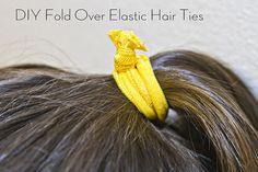 DIY Fold Over Elastic Headbands & Hair Ties