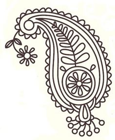 Free Paisley Designs | Here is another embroidery pattern, The Paisley.