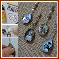 Turn Chandelier Crystals And Old Family Photos Into These Beautiful Crystal Pendant Photo Ornaments