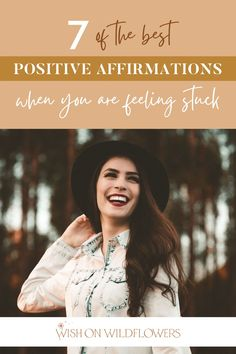 Let go of negative thoughts and help yourself get unstuck with 7 positive affirmation quotes that will put you in a positive mindset, boost your confidence, and help you have the best day. These affirmations for women help you focus on 7 core areas, including truth, love, beauty, faith, forgiveness, self care, connection, and authenticity. Add the daily positive quotes to your morning routine, gratitude practice, or whenever you need an uplifting affirmation in your day. Positive Self Affirmations, Affirmations For Women, Positive Mindset, Positive Quotes, Confidence Coaching, Confidence Boost, Negative Self Talk, Negative Thoughts, Beauty Quotes For Women