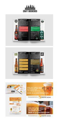 Australian Craft Breweries brochure and BrewsNews advertising design Catalogue Design, Business Style, Business Fashion, Craft Cider, Wood Bird, Geek Out, Advertising Design, Brewery, Design Projects
