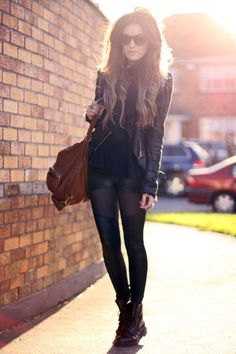 Mixed pieces, all black.