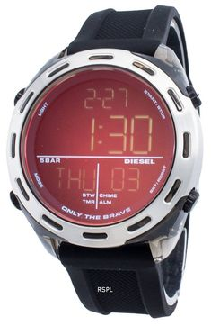 Features:  Nylon Case Silicone Strap Iridescent Crystal Digital Display Day And Date Display Screwed Case Back Buckle Clasp 50M Water Resistance  Approximate Case Diameter: 46mm Approximate Case Thickness: 15mm Diesel Watch, Watches For Men, Digital, Iridescent, Display, Crystal, Water, Products, Top Mens Watches