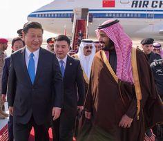 رئيس جمهورية الصين الشعبية يصل الرياض, وسمو ولي ولي العهد يستقبله لدى وصوله مطار الملك خالد الدولي1