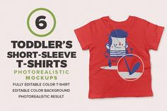 Toddler's Short-Sleeve Mockups by Antonio Padilla on @creativemarket