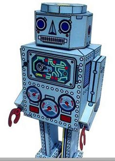 awesome paper robot craft!