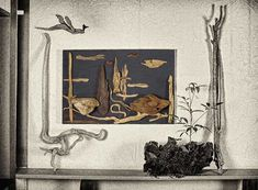 流木で描く山水画 2015年 流木アートー1-2