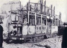 Tram 540 op 31 Mrt.1943 uitgebrand op de Schiedamseweg.