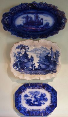 Mermaid House In Bluebird Canyon: Historical Blue and White Staffordshire