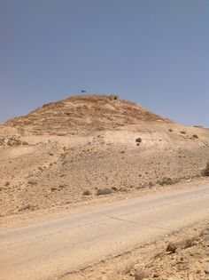 87. The Acropolis of the Nabatean City of Avdat Seen from the Entry of the Park