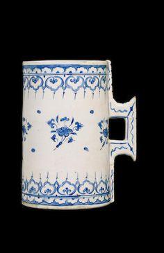 An Iznik pottery Tankard Turkey, circa 1575  Sold at Bonhams for £65,725