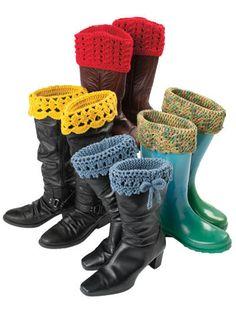 استخدمى الكروشيه لتزين حذائك-بالكروشيه جددى البوت-شغل كروشيه على الابوات الجلديه بشكل - منتدى خياطة