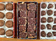 Edible Christmas Gifts - Hot Cocoa Mix, Vanilla Marshmallows, Chocolate Chip Cookie Dough Truffles, Chocolate Almond Toffee, Chocolate-Covered Buttercream Cherries