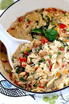 Creamy Cajun Chicken Pasta Soup Get The recipe @https://www.facebook.com/Urban-Foodie-321998004590237/ #creamycajunchickenpastasoup