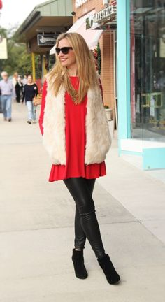 Faux Fur Vest and Faux Leather Leggings Haute & Humid - Effortless Fashion, Every day
