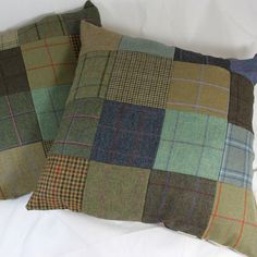 Giant Tweed Patchwork cushions   http://www.timothyfoxx.co.uk/collections/ladies/Homewares