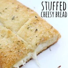 You just have to make this Stuffed Cheesy Bread. You can have it ready in 15 minutes and it tastes amazing! It is great served with your favorite soup.