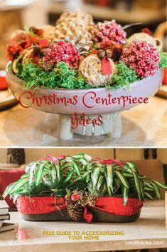 Christmas decorations for your centerpiece. Christmas decor, Holiday Decorations,