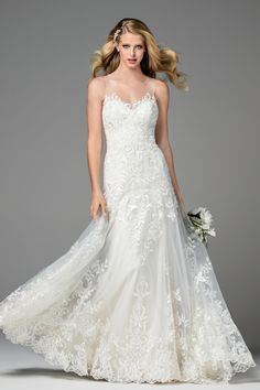 Dame 2074B   Brides   Watters - dress in Ivory with Oyster lining