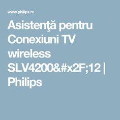 Asistenţă pentru Conexiuni TV wireless SLV4200/12 | Philips