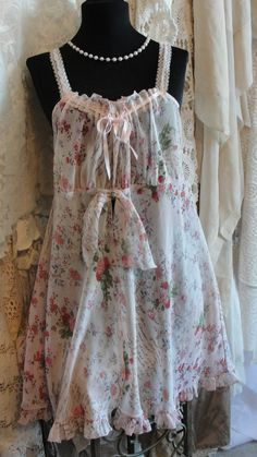 Lingerie shabby french chic baby doll mori girl by SummersBreeze
