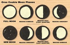 Moon phases with oreos - fun!