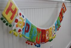 Mini Colorful Reusable Fabric Happy Birthday Banner Bunting