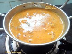 Chinna Vengaya Kuzhambu or in kannada we call this as Chikk eerulli sambar , very fragrant , very flavorful and do you know when this tastes best ? 4 days after its preparation ;D . I made this kuzhambu a day before leaving to Bangalore for our annual family get-together , and when I came back home