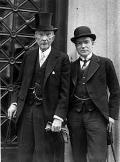 John D. Rockefeller, Senior and Junior attend church c 1930