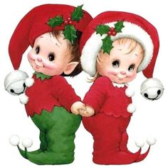 Christmas Elves by Ruth Morehead