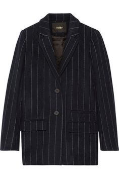 Maje|Vampas pinstriped wool-blend gabardine blazer|NET-A-PORTER.COM