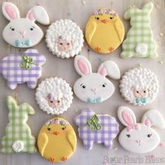 "216 Likes, 8 Comments - Pamoda (@sugarpearlsbakes) on Instagram: ""Everyone's in their Sunday best! Happy Easter! """