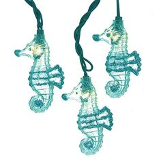 This Kurt Adler UL Glittered Seahorse Light Set is a fun and unique addition to any holiday or theme party decor. Each of the ten lights in this novelty light set has an adorable clear seahorse lined in blue glitter. Nautical Christmas, Beach Christmas, Christmas Ideas, Holiday Ideas, Holiday Decor, Blue Christmas, Christmas Gifts, Indoor Christmas Lights, Holiday Lights