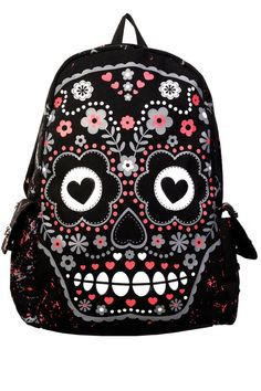 Banned Sugar Skull Backpack - My Sugar Skulls