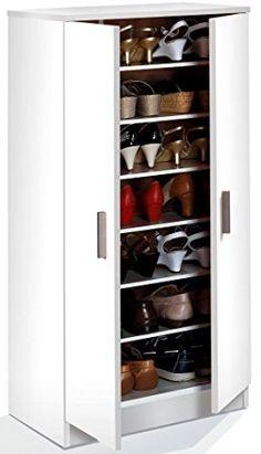 Habitdesign 007813O - Zapatero armario, color blanco, dimensiones 108 x 55 x 36cm