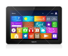 Windows 8 Touch Tablet PC. Metro interface.