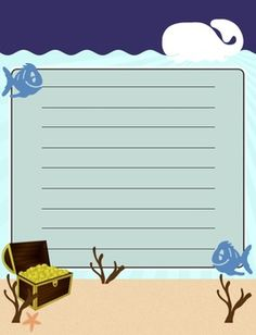 Free Under the Sea Theme Paper (Elementary or Middle)